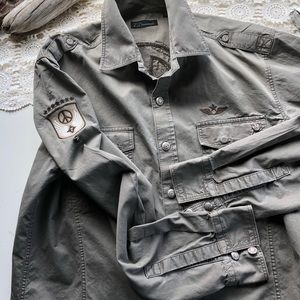 7 Diamonds Shirts - ♦️SOLD‼️ 7Diamond  Military Green Button Down